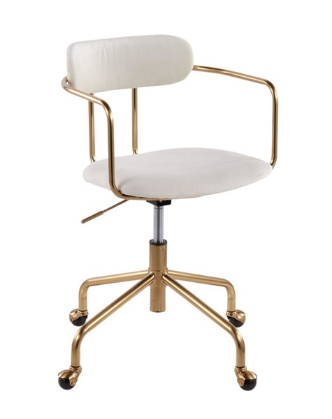 Lumisource Demi Gold Cream Office Chair LUMI-OC-DEMI-AUVCR