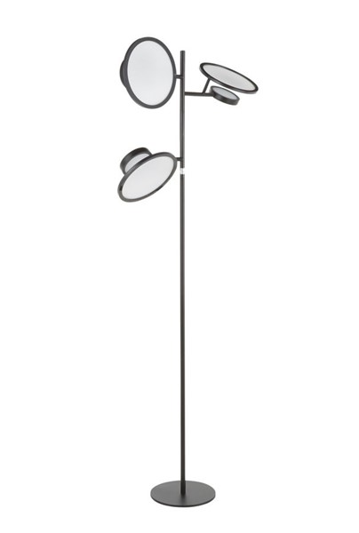 Lumisource Eclipse Black White Floor Lamp LUMI-L-ECLIPSEFL-BK