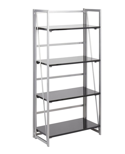 Lumisource Folia Silver Black Bookcase LUMI-OBC-FOLIA-SVBK
