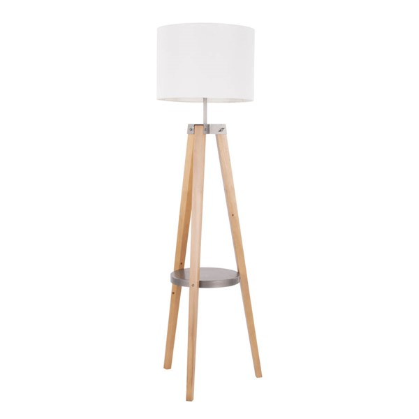 Lumisource Compass White Shelf Floor Lamp LUMI-L-CMPFL-SHF-W
