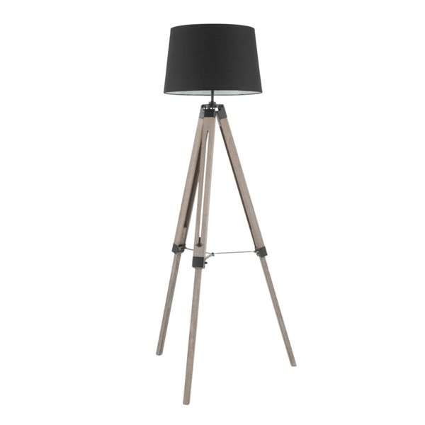 Lumisource Compass Black Floor Lamp LUMI-L-CMPSFL-GY-BK