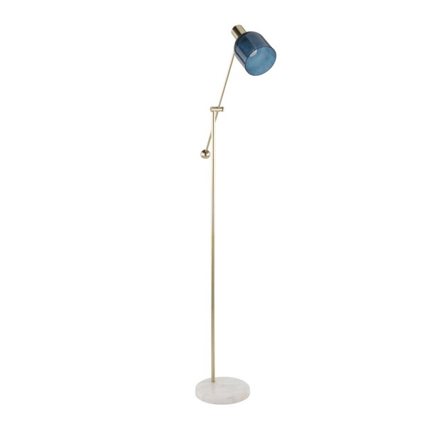 Lumisource Marcel White Gold Blue Floor Lamp LUMI-L-MARCLFL-AU-BU