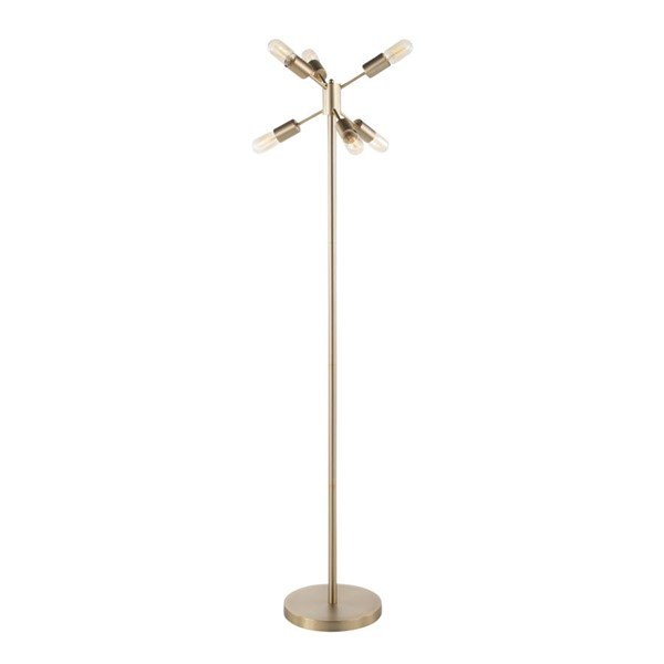 Lumisource Spark Antique Brass Floor Lamps LUMI-L-SPRKFL-VAR