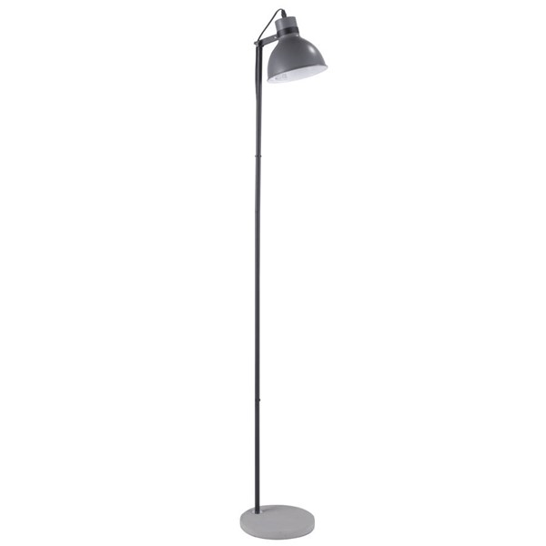 Lumisource Concrete Grey Floor Lamp LUMI-LS-CRCFL-BK-GY