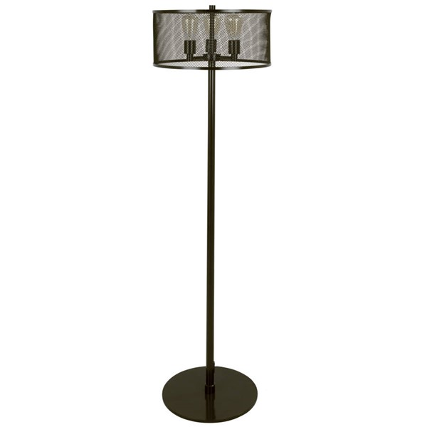 Lumisource Indy Antique Mesh Floor Lamp LUMI-LS-INDYMSH-AN
