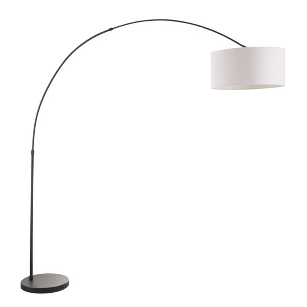 Lumisource Salon White Metal Floor Lamp LUMI-LS-SALFL-BK-W