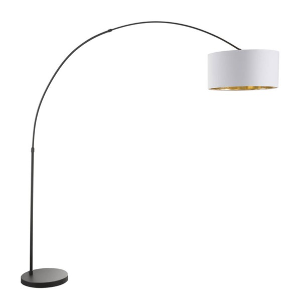 Lumisource Salon White Shade Floor Lamp LUMI-LS-SALFL-BK-WAU