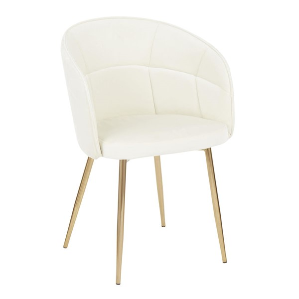 Lumisource Lindsey Gold Cream Chair LUMI-CH-LINDSY-AUVCR