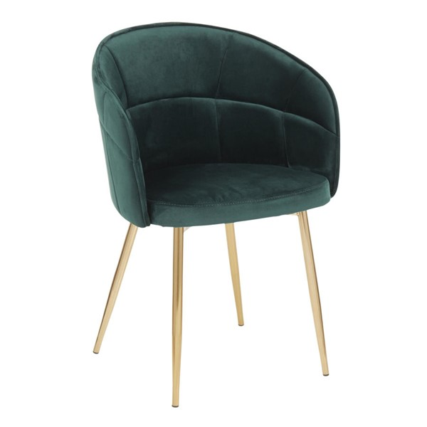 Lumisource Lindsey Gold Green Chair LUMI-CH-LINDSY-AUVGN