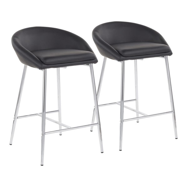 2 Lumisource Matisse Black Counter Stools LUMI-B26-MATSE-BK2