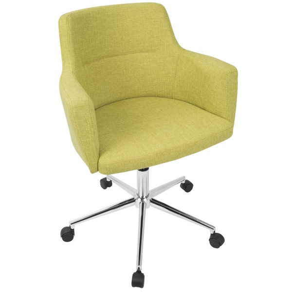 Lumisource Andrew Citrus Green Fabric Office Chair LUMI-OC-ANDRW-LG