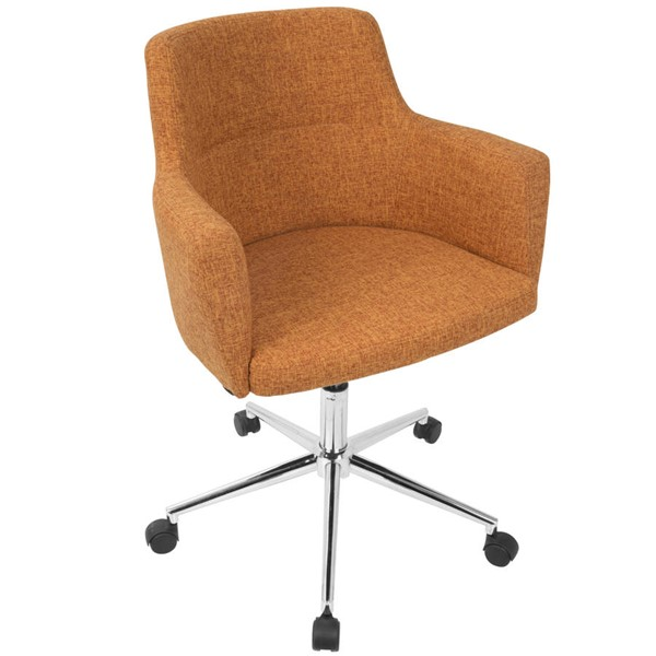 Lumisource Andrew Orange Fabric Office Chair LUMI-OC-ANDRW-O