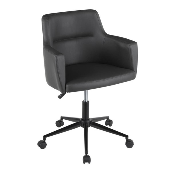 Lumisource Andrew Black Grey Fabric Office Chair LUMI-OC-ANDRW-PUGY