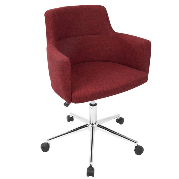 Lumisource Andrew Red Fabric Office Chair LUMI-OC-ANDRW-R