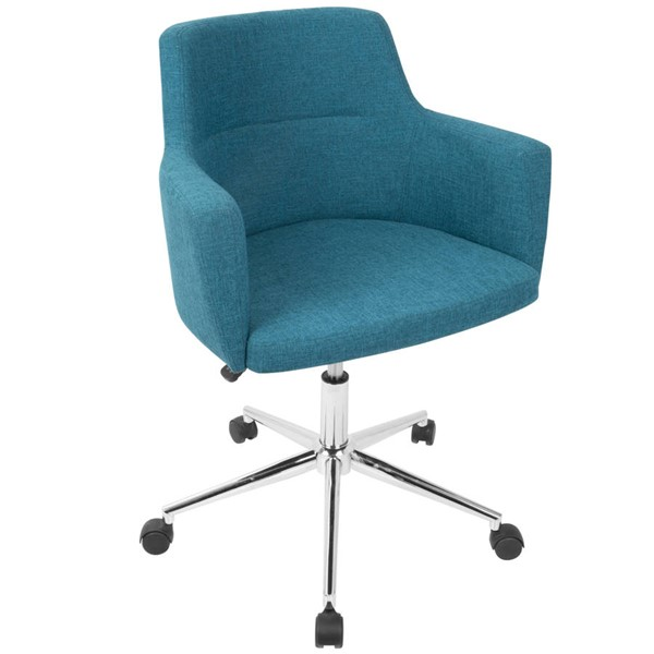 Lumisource Andrew Teal Fabric Office Chair LUMI-OC-ANDRW-TL
