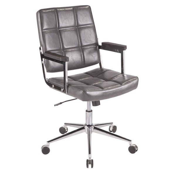 Lumisource Bureau Grey Office Chair LUMI-OC-BUREAU-GY