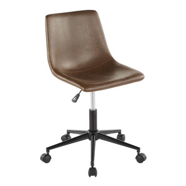Lumisource Duke Espresso Task Chairs LUMI-OC-DUKZ-BK-VAR