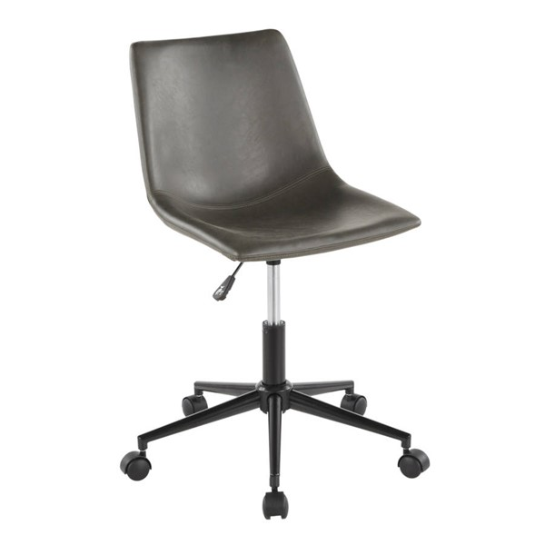 Lumisource Duke Grey Task Chair LUMI-OC-DUKZ-BK-GY