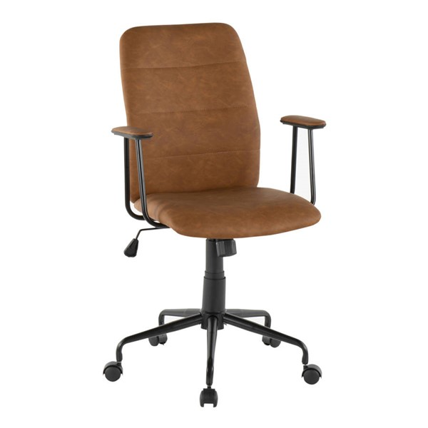 Lumisource Fredrick Brown Office Chairs LUMI-OC-FRED-BK-VAR