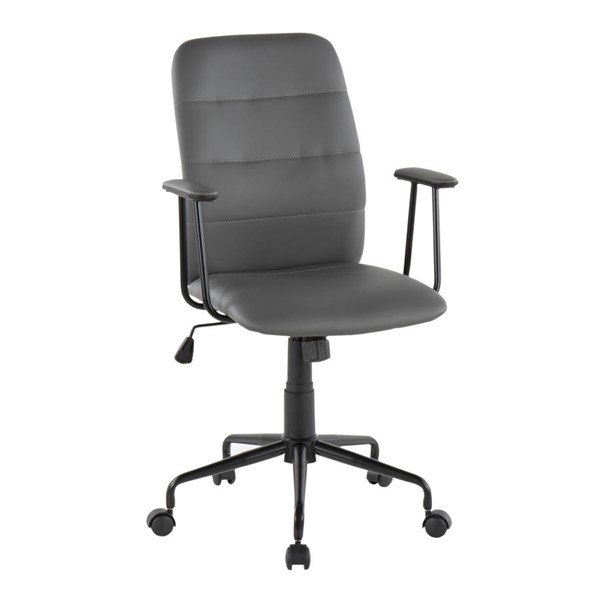 Lumisource Fredrick Grey Office Chair LUMI-OC-FRED-BK-GY