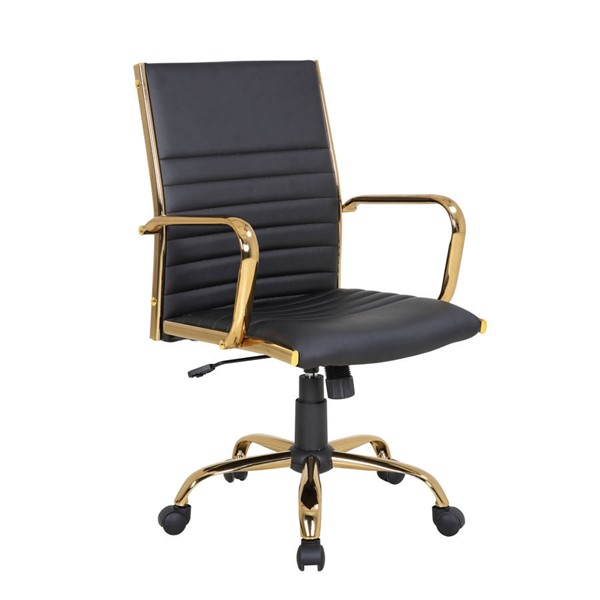 Lumisource Master Gold Black Office Chair LUMI-OC-MSTR-AU-BK