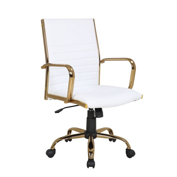 Lumisource Master Gold White Office Chair LUMI-OC-MSTR-AU-W