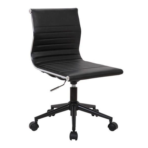 Lumisource Master Black Armless Task Chair LUMI-OC-MSTR-BK-BK