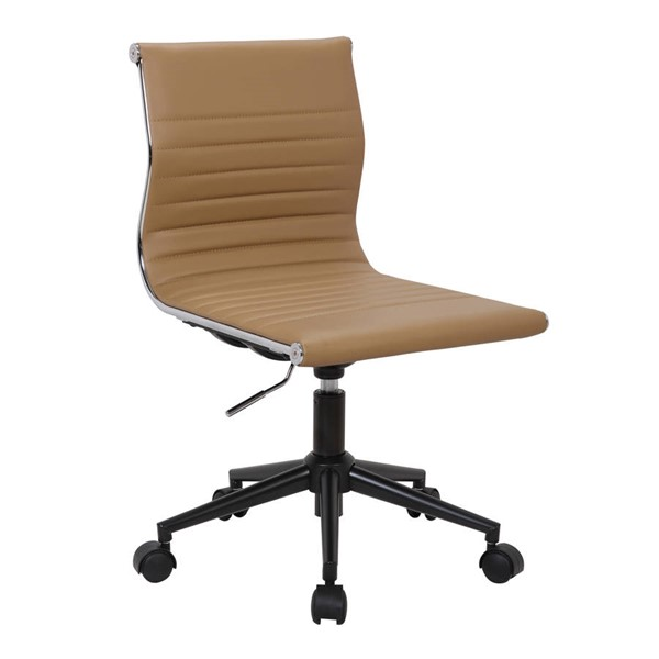 Lumisource Master Camel Armless Task Chair LUMI-OC-MSTR-BK-CAM