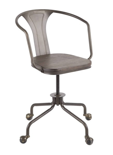 Lumisource Oregon Antique Espresso Task Chair LUMI-OC-OR-AN-E