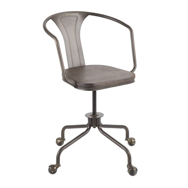 Lumisource Oregon Antique Espresso Task Chairs LUMI-OC-OR-VAR