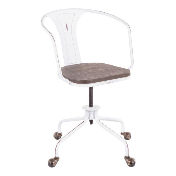 Lumisource Oregon White Espresso Task Chair LUMI-OC-OR-VW-E