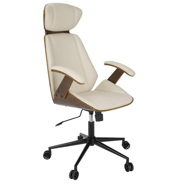 Lumisource Spectre Walnut Cream Office Chair LUMI-OC-SPEC-WL-CR