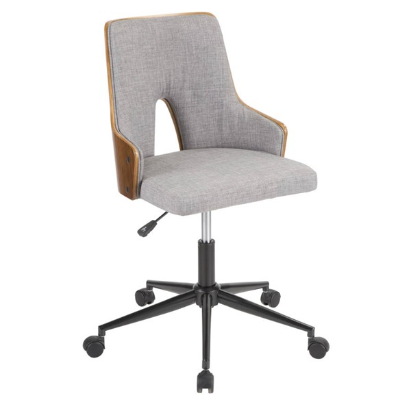 Lumisource Stella Grey Office Chair LUMI-OC-STLA-WL-GY