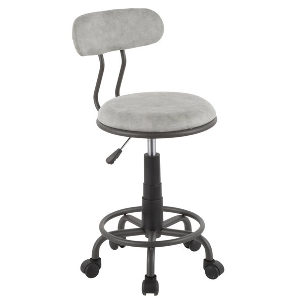Lumisource Swift Light Grey Task Chair LUMI-OC-SWFT-GY-GY