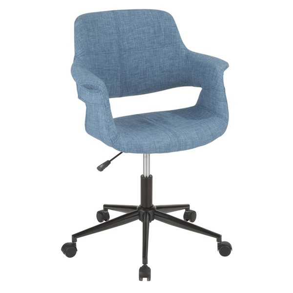 Lumisource Vintage Flair Blue Office Chair LUMI-OC-VFL-BK-BU