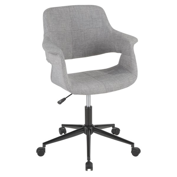 Lumisource Vintage Flair Grey Office Chair LUMI-OC-VFL-BK-GY