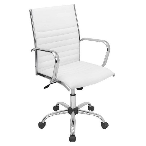 Lumisource Master White Office Chair LUMI-OFC-AC-MSTR-W