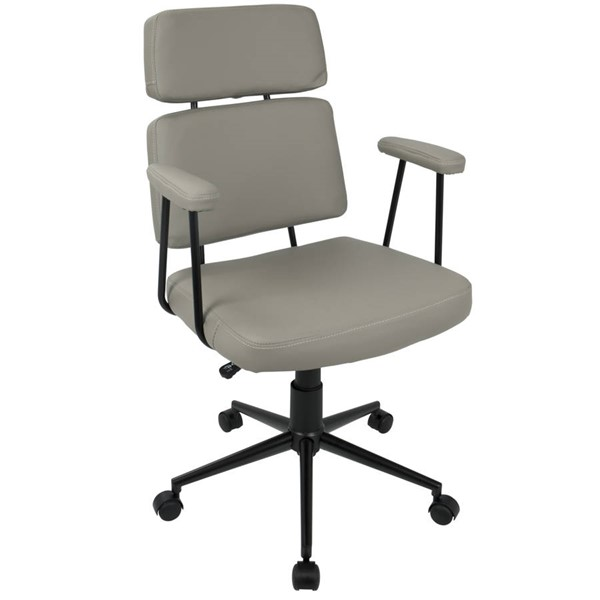 Lumisource Sigmund Grey Chair LUMI-OFC-AC-SIGMD-GY