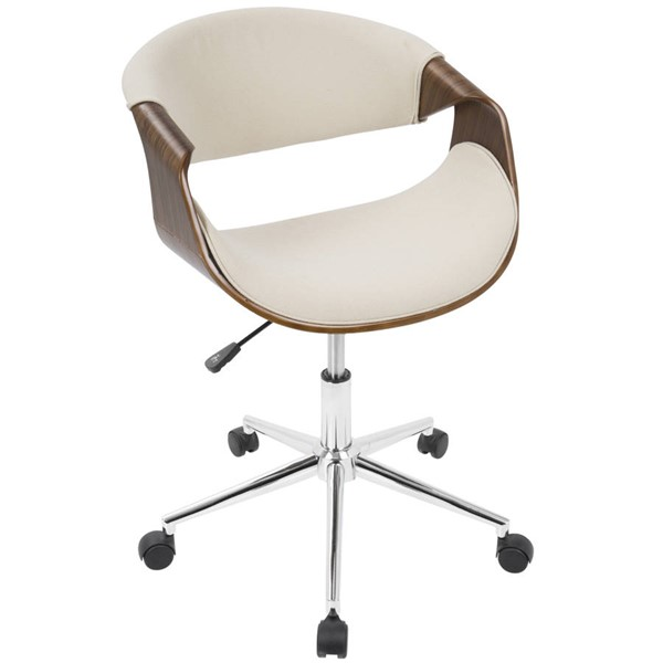 Lumisource Curvo Cream Office Chair LUMI-OFC-CURVO-WL-CR