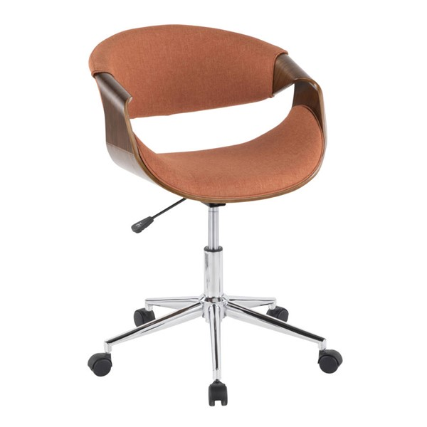 Lumisource Curvo Orange Office Chair LUMI-OFC-CURVO-WL-O