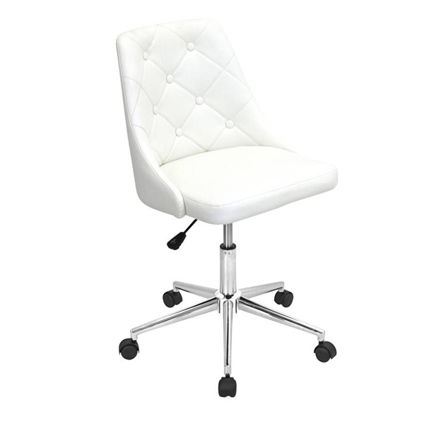 Lumisource Marche White Office Chair LUMI-OFC-MARCHE-W