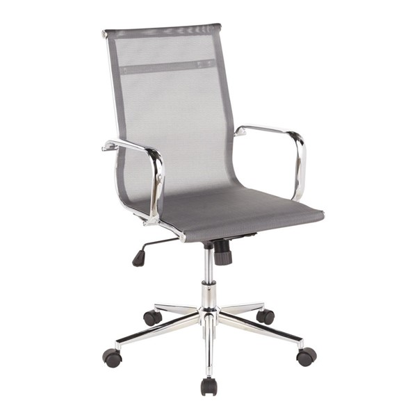 LumiSource Mirage Chrome Silver Office Chair LUMI-OFC-MIRAGE-SV