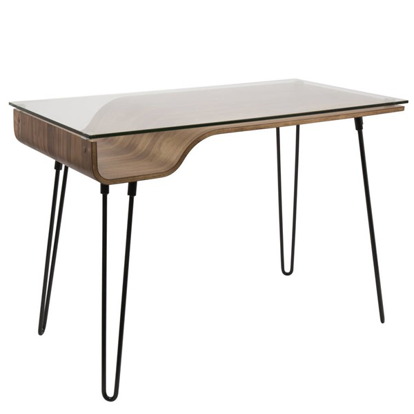Lumisource Avery Walnut Desk LUMI-OFD-AVERY-WL