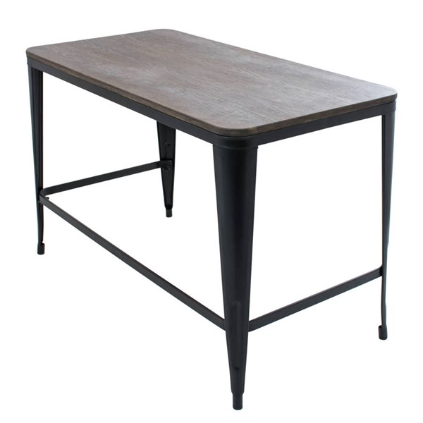 Lumisource Pia Espresso Black Wood Top Desk LUMI-OFD-PIA-BK-E