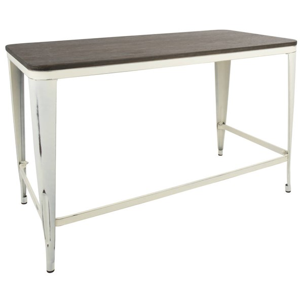 Lumisource Pia Cream Espresso Industrial Desk LUMI-OFD-PIA-VCR-E
