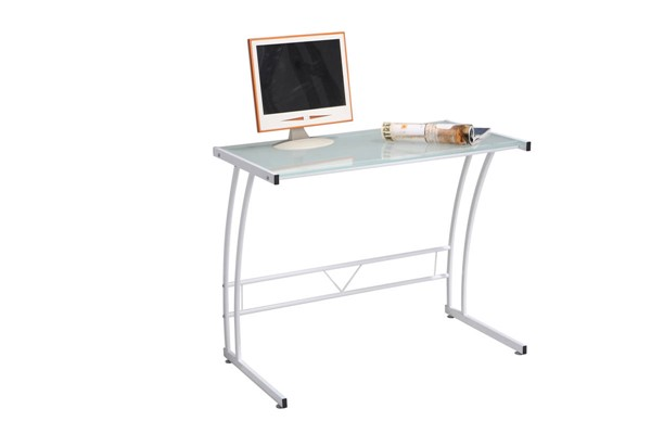 Lumisource Sigma White Metal Glass Desk LUMI-OFD-TM-BITSGL-W