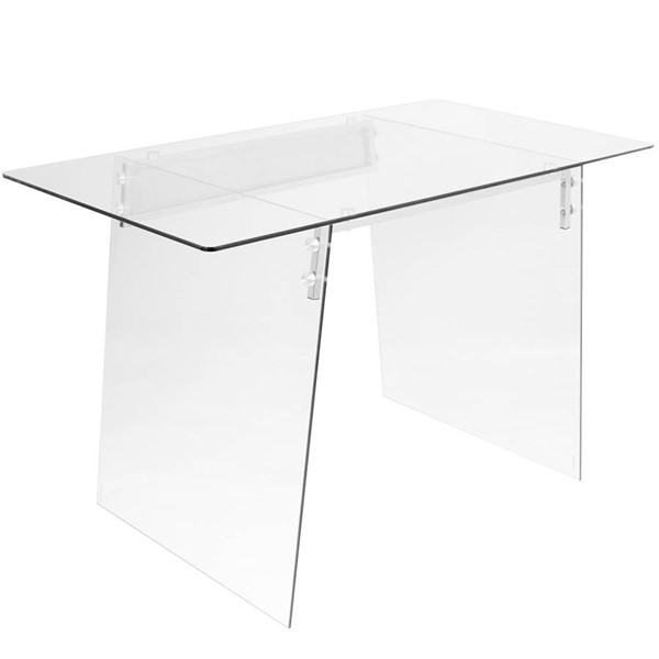Lumisource Glacier Clear Desk LUMI-OFD-TM-GLACE