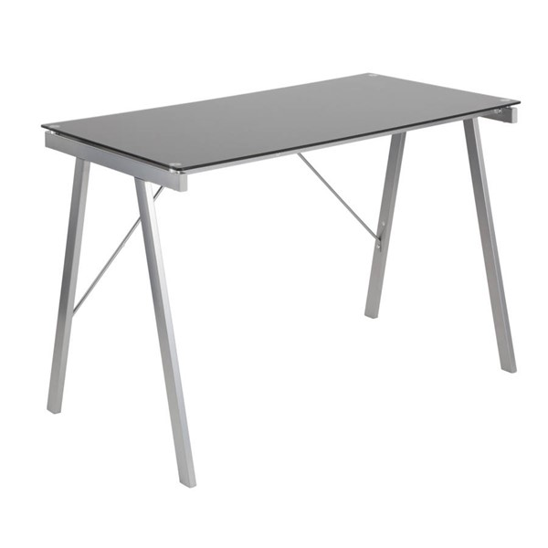 Lumisource Exponent Black Silver Desk LUMI-OFD-TM-PBLNK-BK