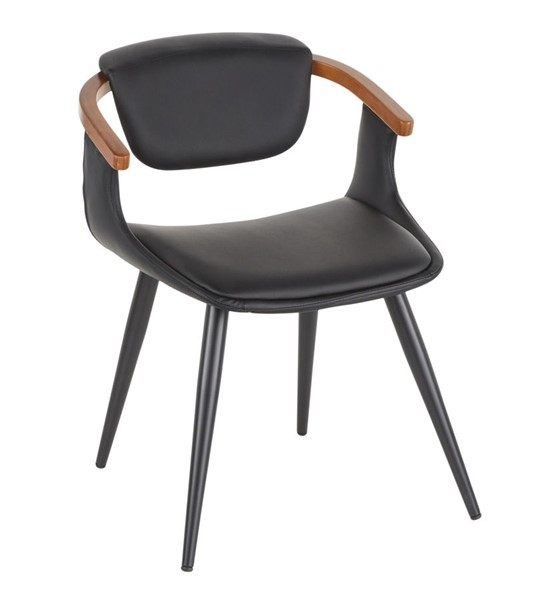 Lumisource Oracle Black Walnut Chair LUMI-CH-ORACLE-BKBK