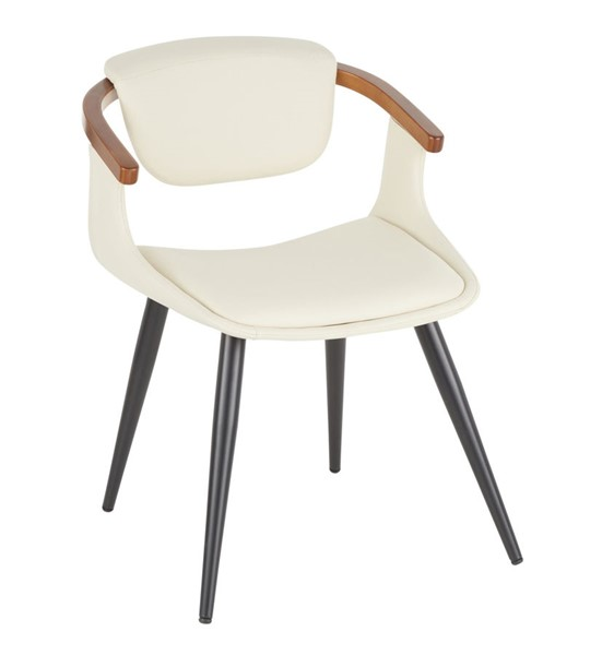 Lumisource Oracle Black Cream Walnut Chair LUMI-CH-ORACLE-BKCR